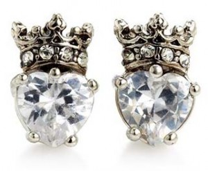 Juicy Couture CZ Heart Crown Studs