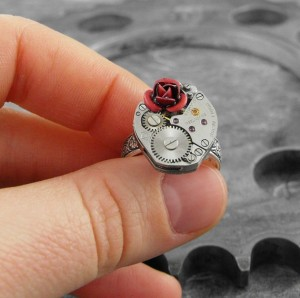 Because She Is My Rose Artful Hardware Ring by COGnitivecreations
